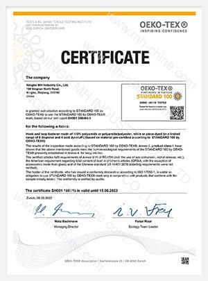 OEKO-TEX 100 standart sınıf 1