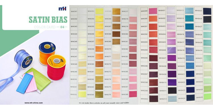 satin bias color chart