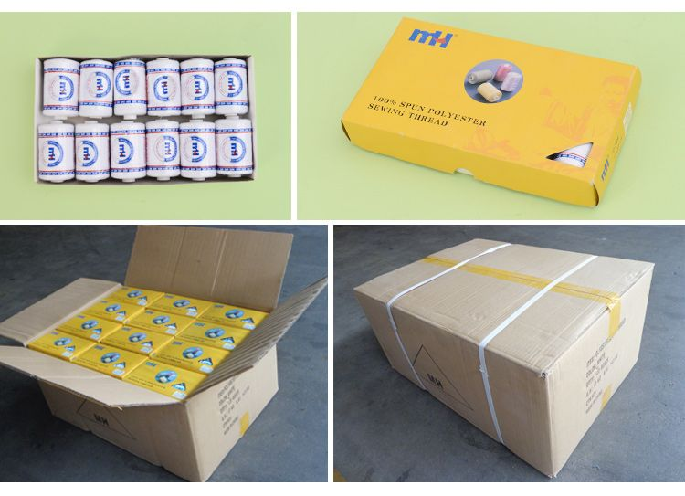 Small Spool of Polyester Sewing Thread packing