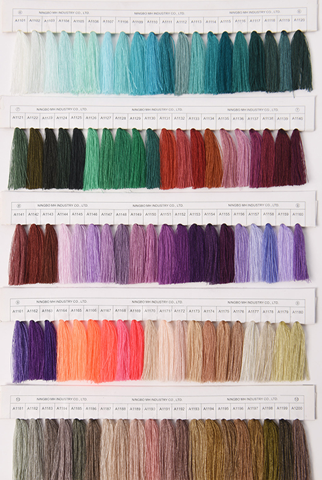 polyester sewing threads Color Card