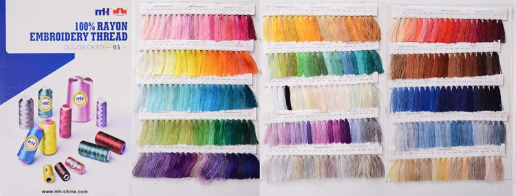embroidery threads Color Card