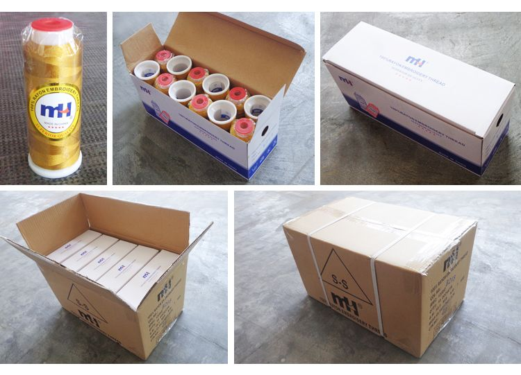 rayon embroidery threads packing