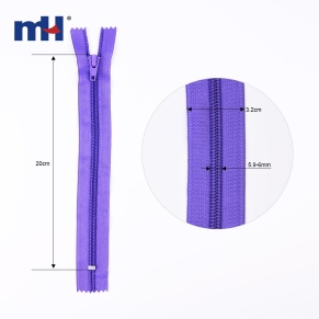 #5 closed end nylon zipper