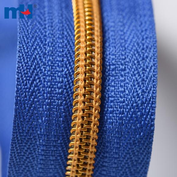 0222-5a-1 #5 open end gold teeth zipper