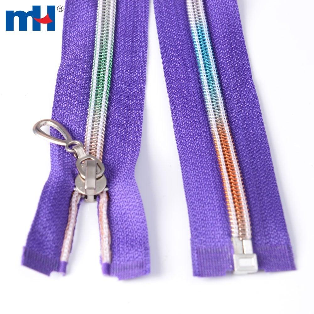 nylon rainbow teeth zipper