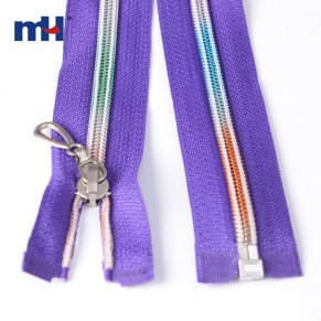 nylon rainbow teeth zipper