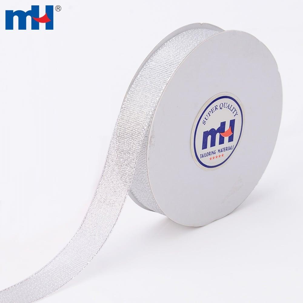 0080-2000 silver glitter ribbon