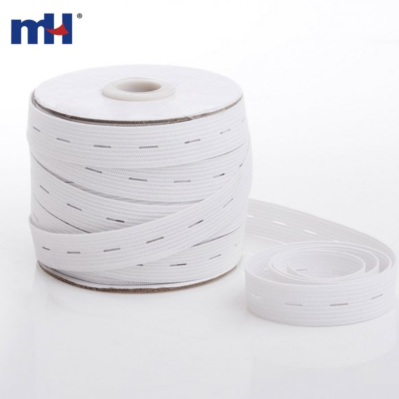 15mm Knitting Elastic Tape with Button Hole