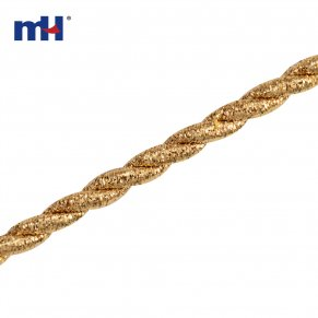 gold glitter twisted rope