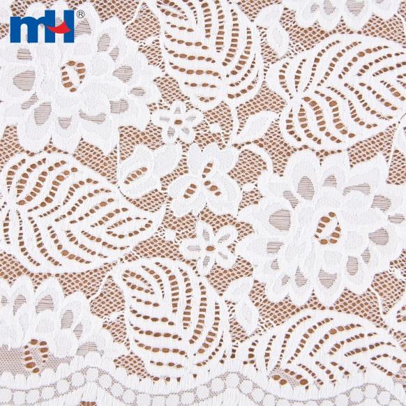 Tela de encaje floral de nailon para prendas de vestir