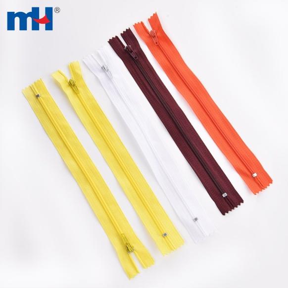 Deslizador de cierre automático con cierre de cremallera de nailon n. ° 3 20cm (2)