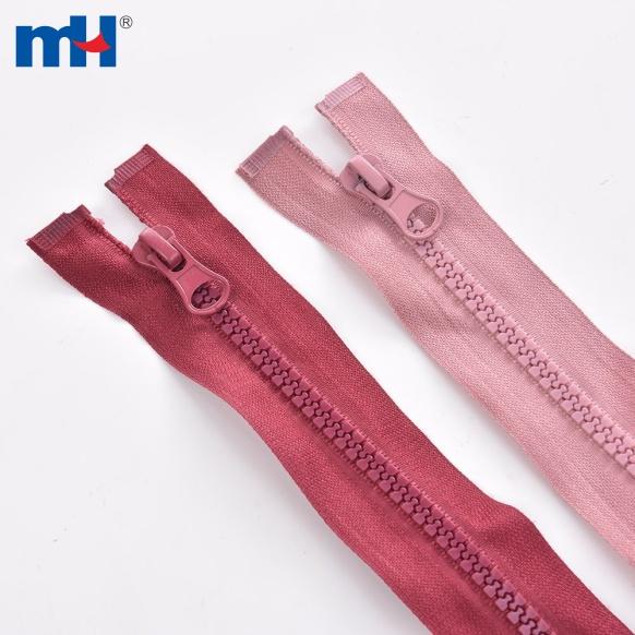 Resin Zipper in Various Color for Apparel