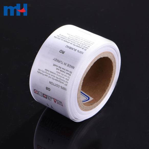 etichetta stampata in nylon