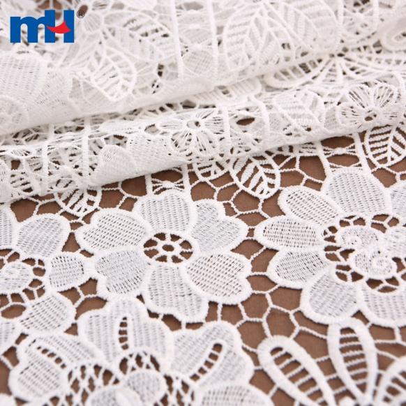 tecido de guipura floral