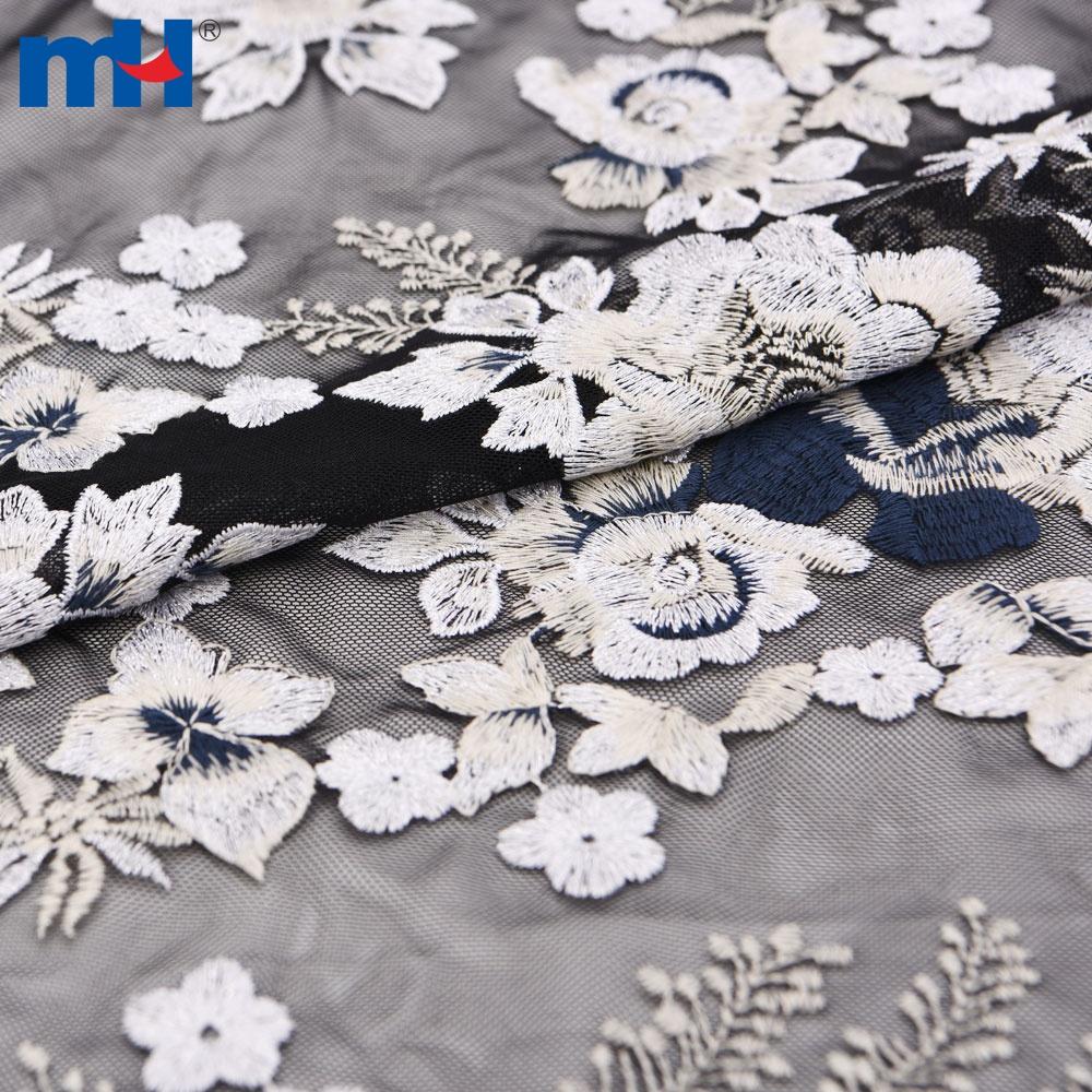 tecido de malha de bordado