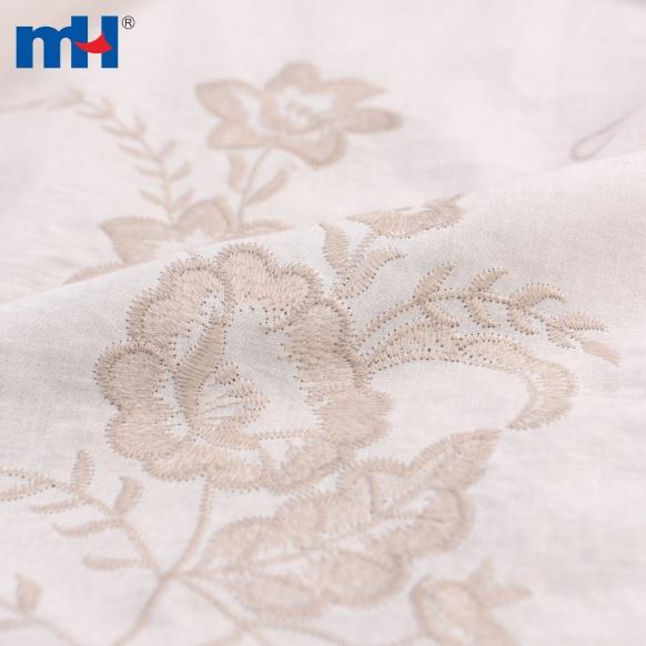 tela de algodón bordado