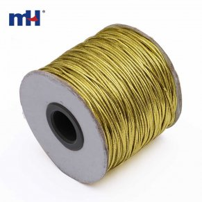 0370-6100 Gold Metallic Elastic Cord