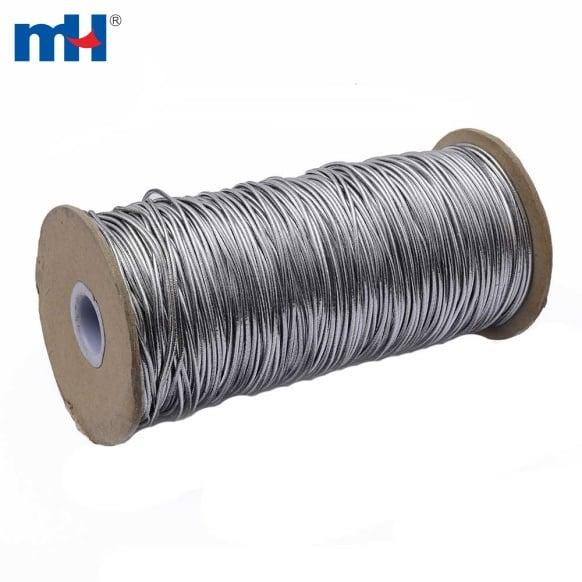 Cordon élastique argent métallique 6201-1003