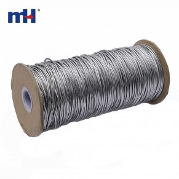 6201-1003 metallic silver elastic cord