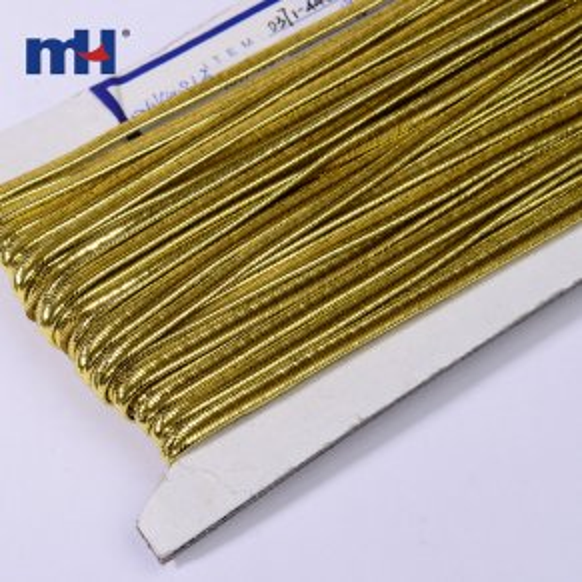 металлический золотой сутажный шнурок