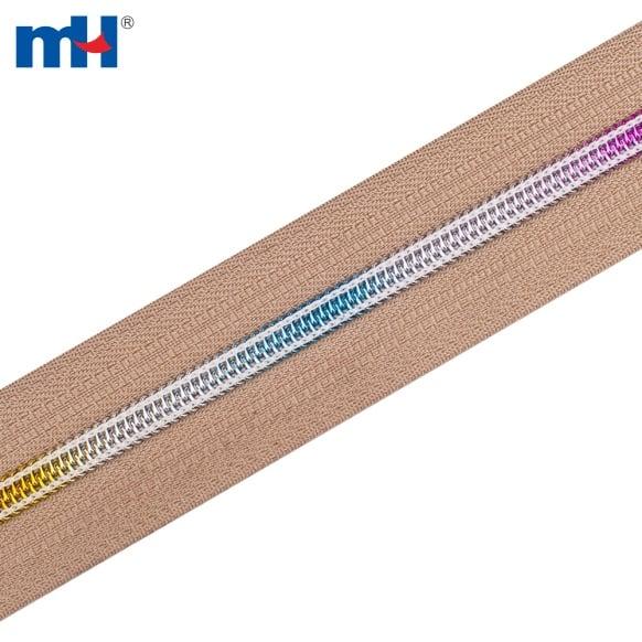 0224-003B #7 arcobaleno con cerniera in nylon