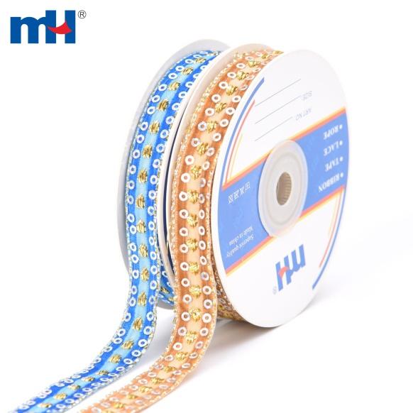 sequined velvet ribbon