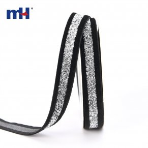 black sparkle velvet ribbon