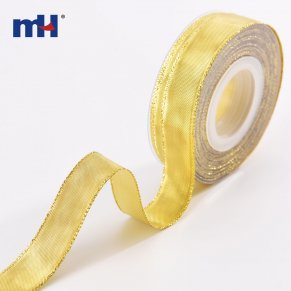 3/4 inch metallic ribbon