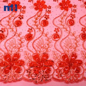 Sequins Lace Fabric 0610-0023