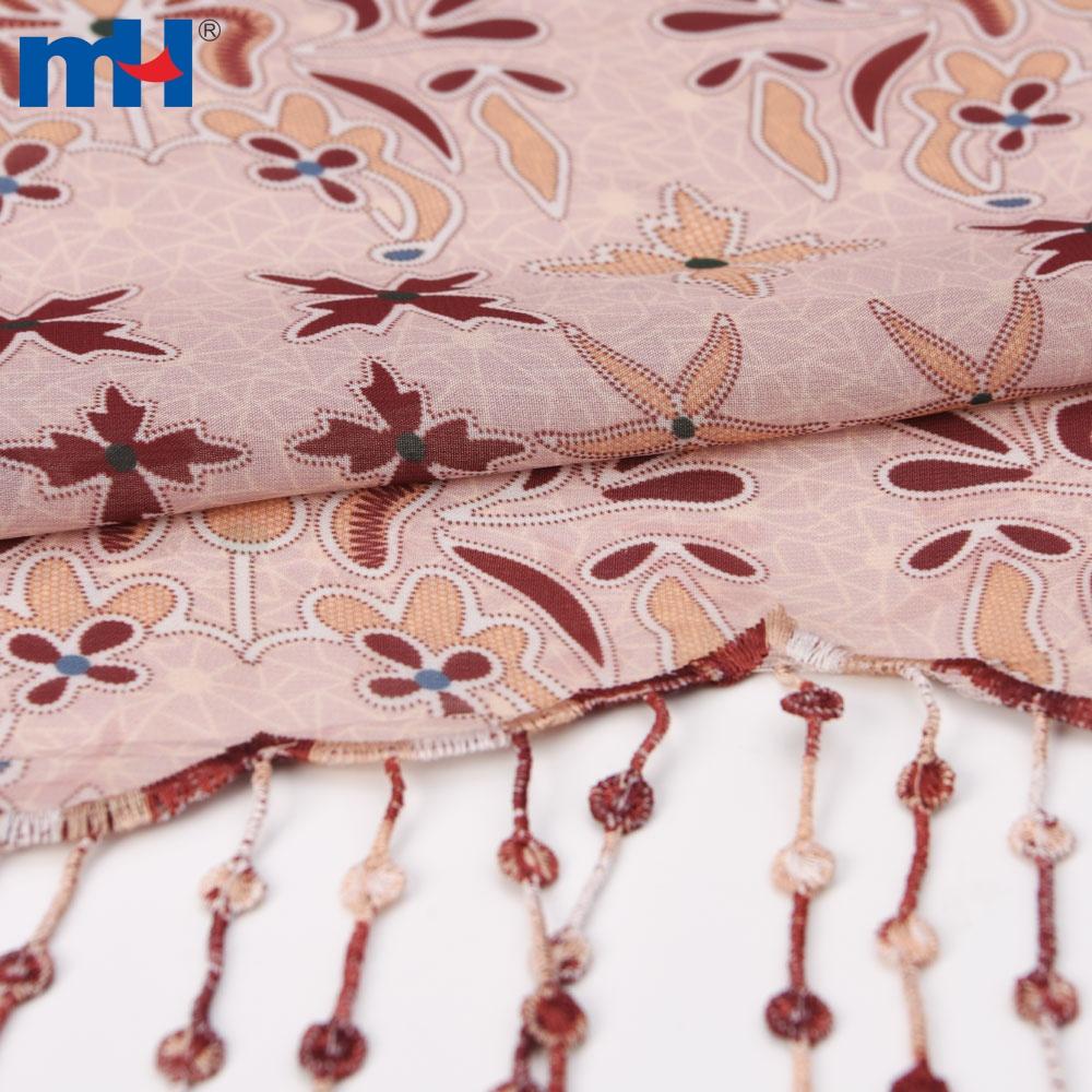 chiffon tassel fabric