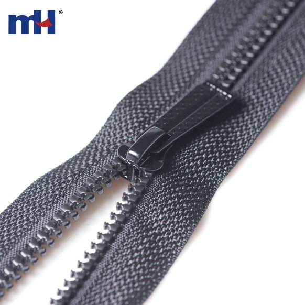 #5 open end plastic zipper