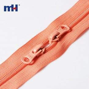double ended zip closed