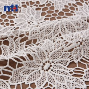 white embroidered lace