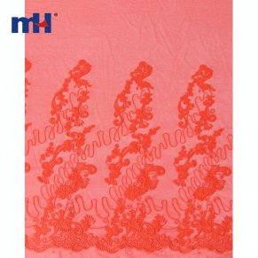 red wedding lace fabric