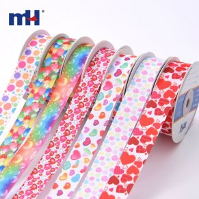 heart printed ribbon