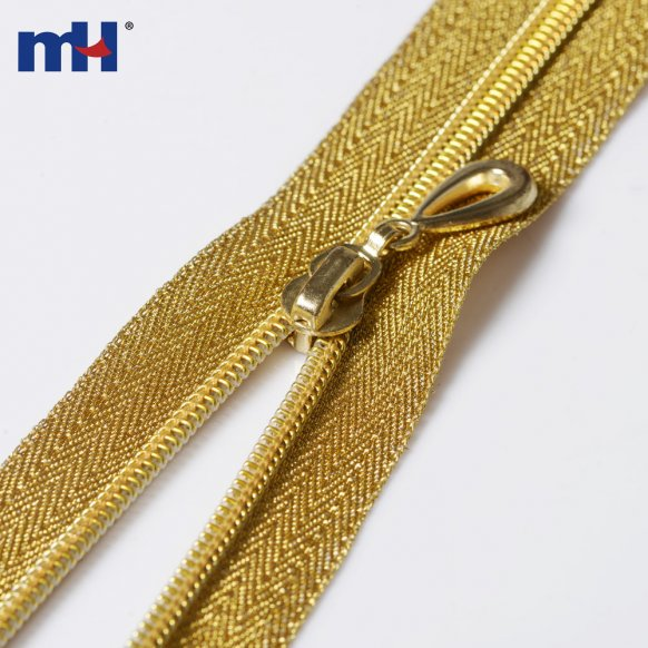 golden teeth nylon zipper