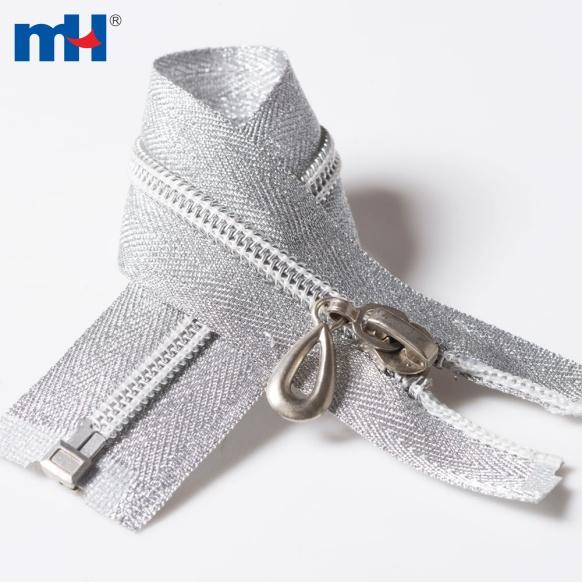 0222-62 #5 Open end silver teeth zipper