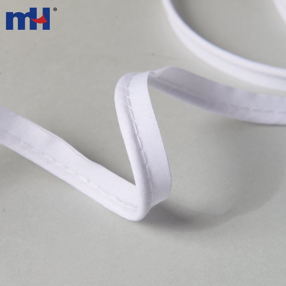 10mm White Polycotton Bias Binding Tape Insertion Cord