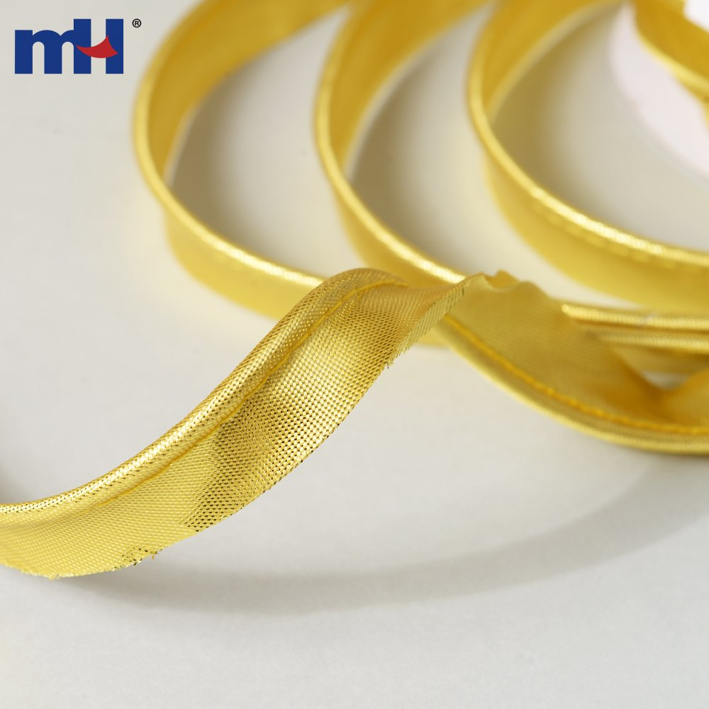 15mm Gold Bias Binding Flanged Insertion Piping Cord