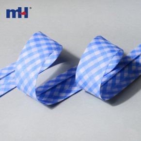 polycotton gingham bias binding