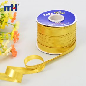 metallic gold satin bias tape