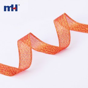red metallic ribbon