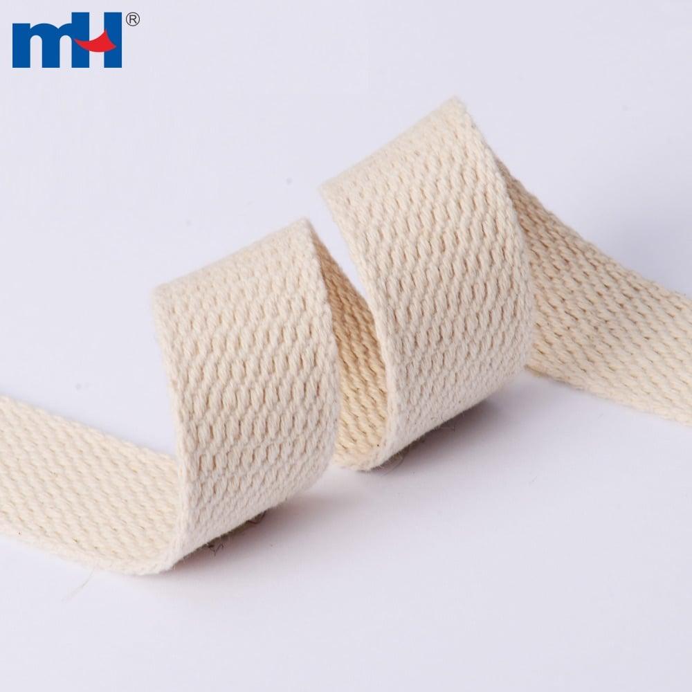 Raw White Plain Weaving Cotton Webbing Bunting Tape