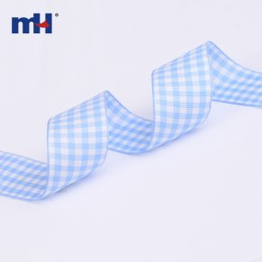 pale blue gingham ribbon