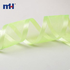 satin edged organza ribbon