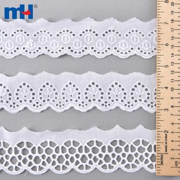 Adorno de encaje de algodón 0573-1483