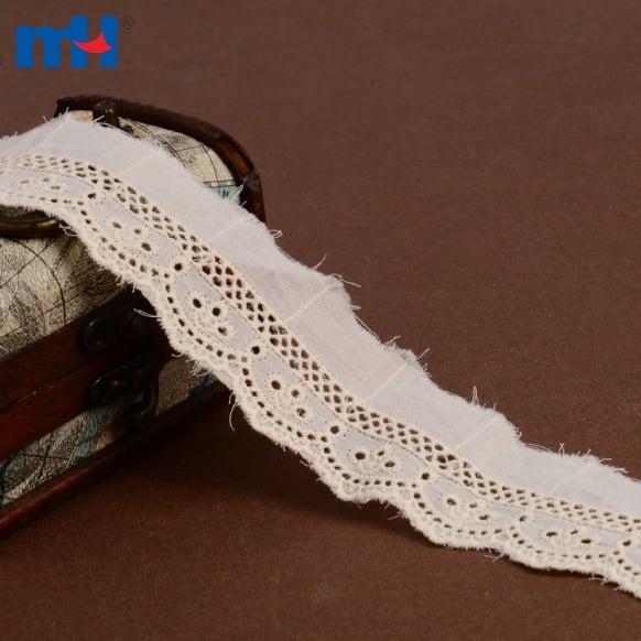 Adorno de encaje de algodón 0573-2398