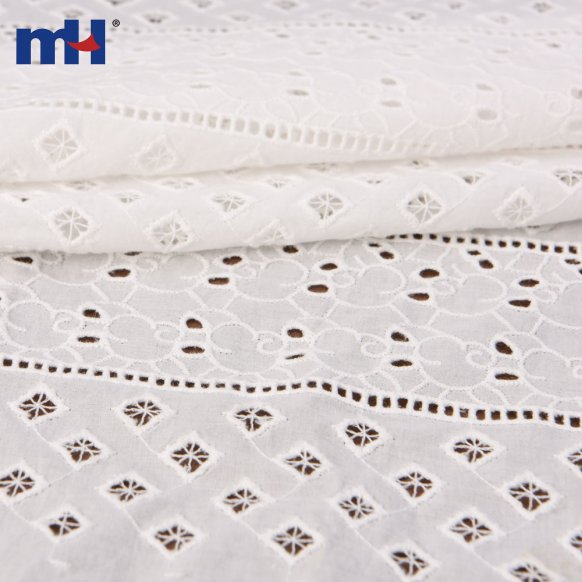 white eyelet lace fabric