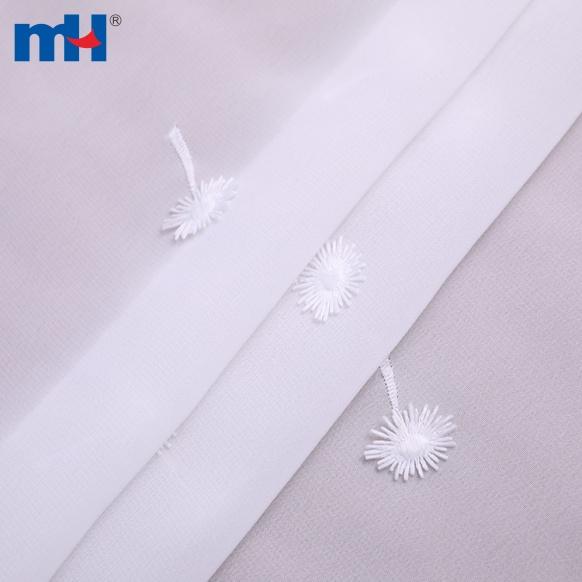 tessuto chiffon bianco