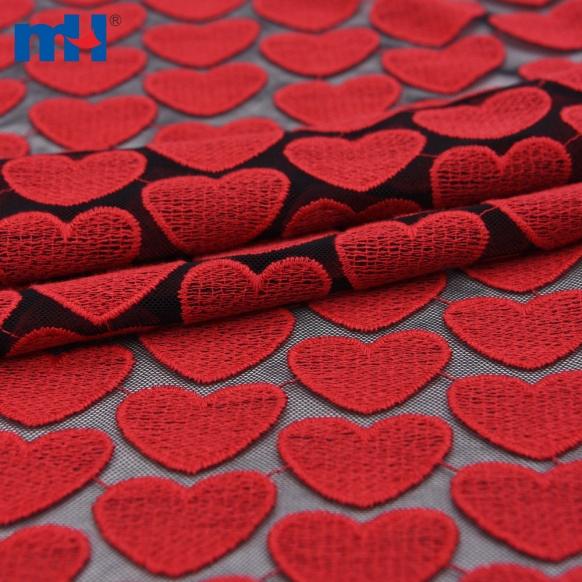 black mesh lace fabric